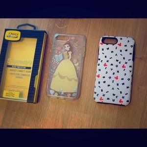 iPhone 8 Plus phone case bundle—Disney Otterbox
